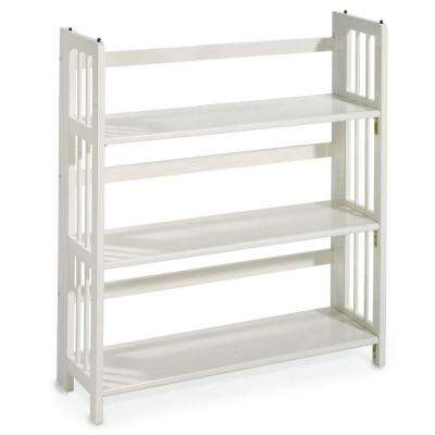 white open bookcase