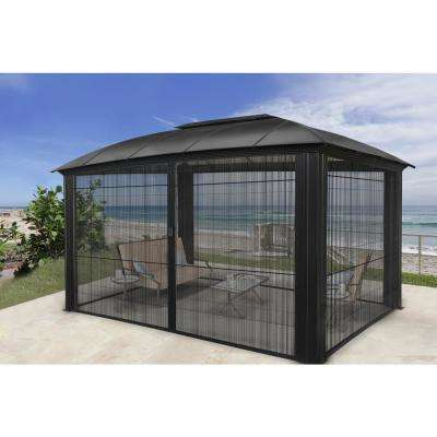 Paragon 12 ft. x 16 ft. Aluminum Hard Top Gazebo with Sliding Screen