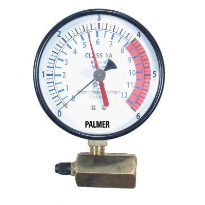 4 in. Dial 6 psi Specialty Gas Test Gauge