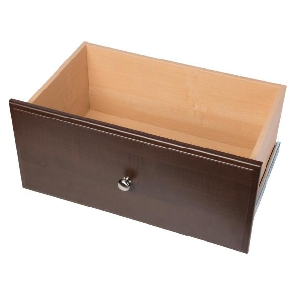 12 in. H x 24 in. W Espresso Wood Deluxe Drawer Kit