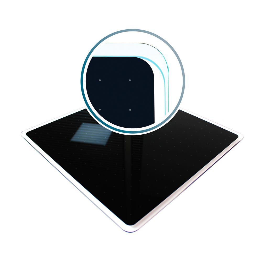 Viztex® Glacier 14 in. x 14 in. lack Multi-Purpose Grid Glass Dry Erase Board