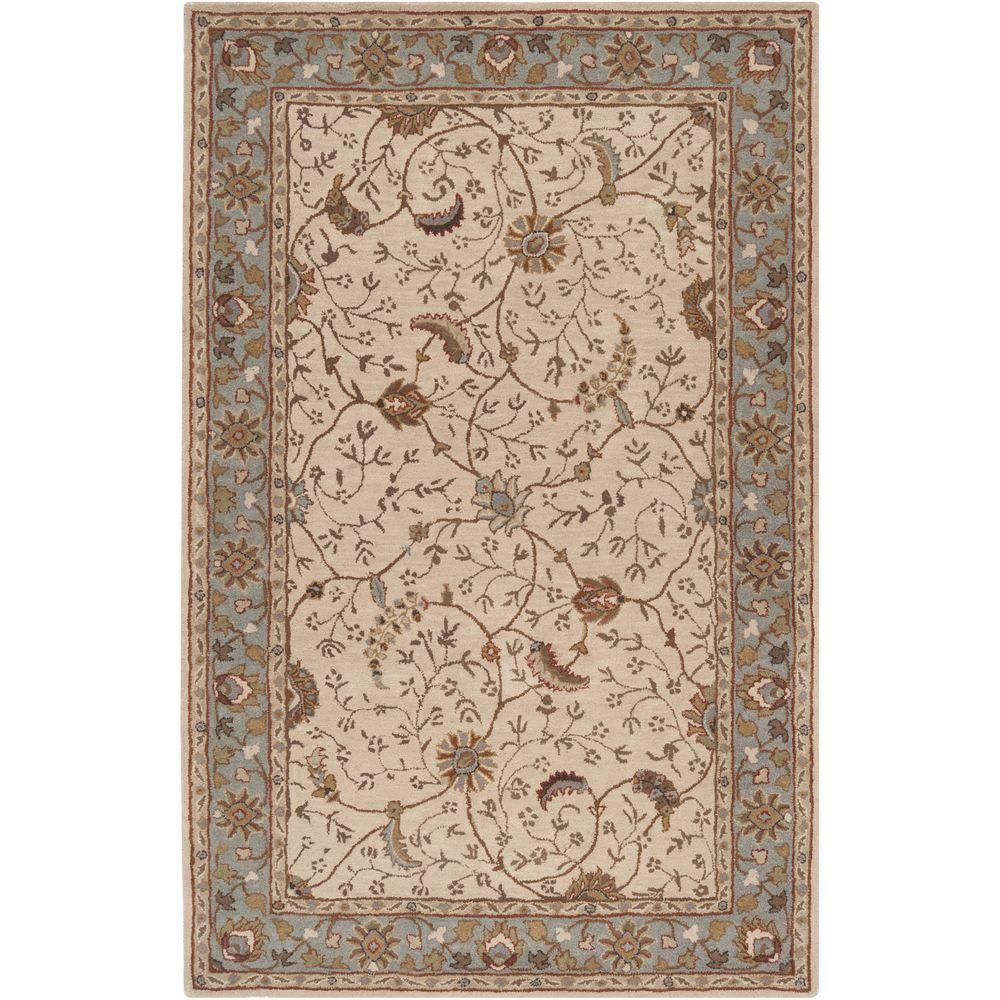 Elam Olive 10 ft. x 14 ft. Indoor Area Rug