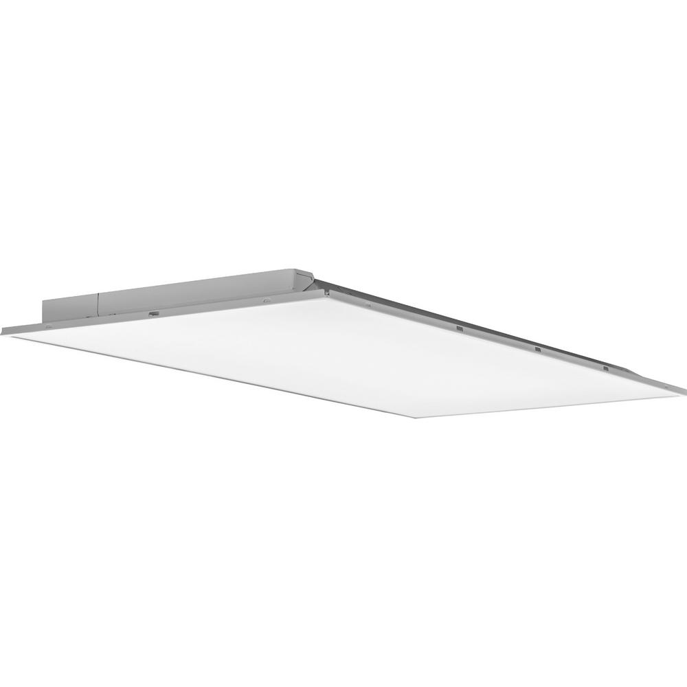 Lithonia Lighting 2 Ft X 4 Ft Fully Luminous White Integrated Led Lay In Troffer With Smooth White Lens
