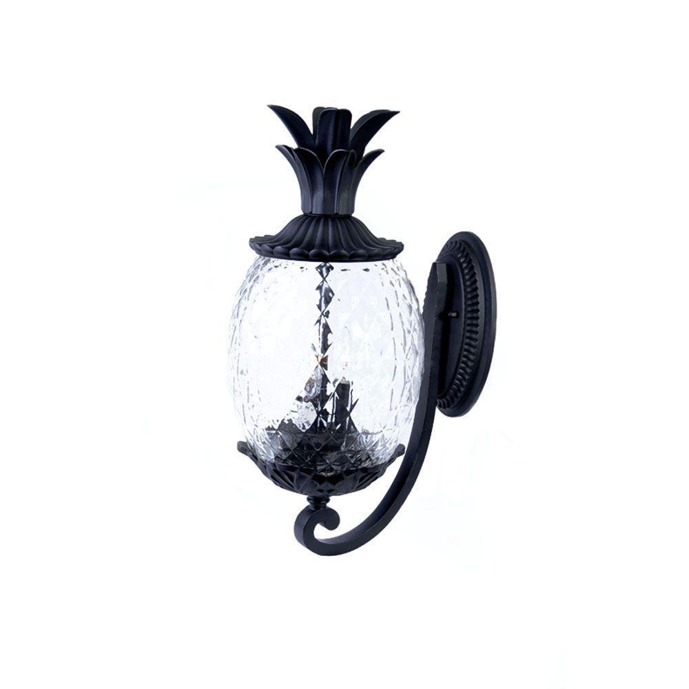 Acclaim Lighting Lanai Collection 2 Light Matte Black Outdoor Wall Lantern Sconce