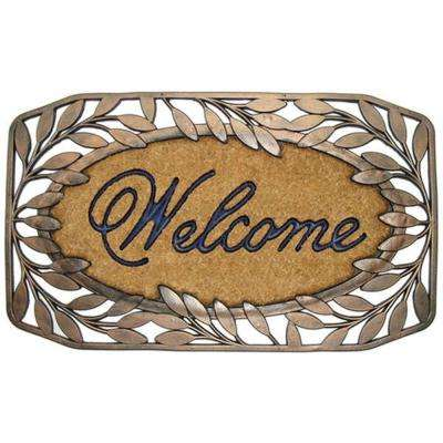 A1HC First Impression Brush 23 in. x 38 in. Rubber and Coir Door Mat