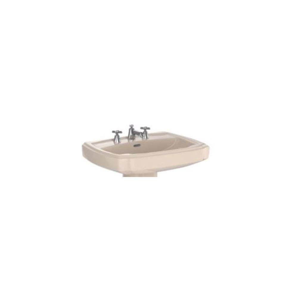 TOTO Guinevere 25 in. Pedestal Sink Basin with Single Faucet Hole in ...