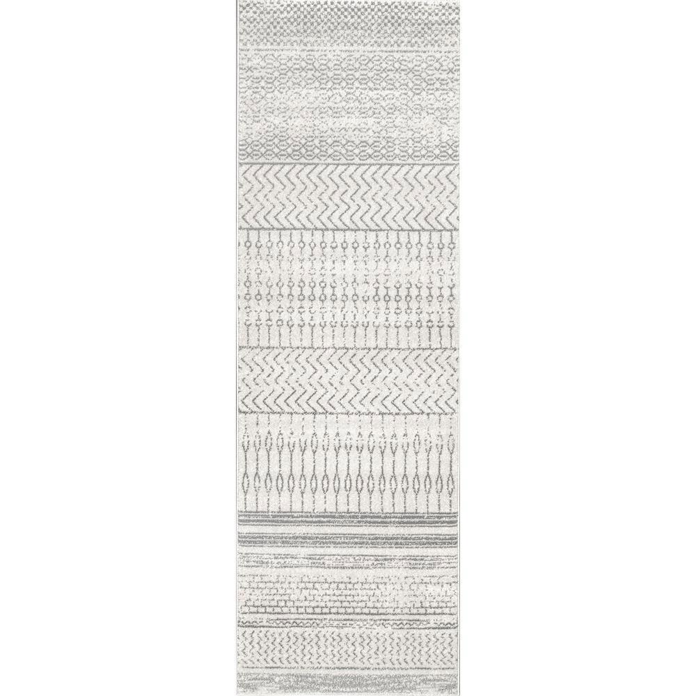 Nova Stripes Gray 3 ft. x 8 ft. Runner