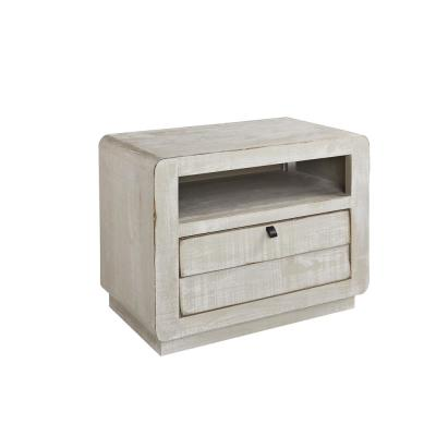 Bliss 1-Drawer Gray Chalk Nightstand 23 in. H x 30 in. W x 17 in. D