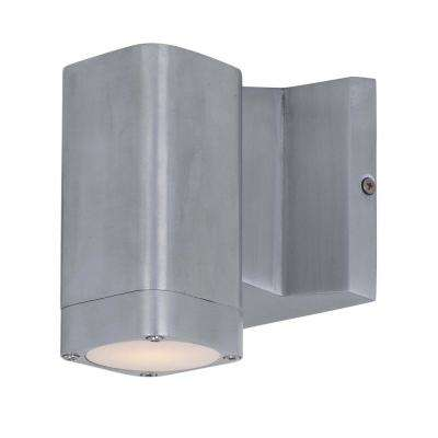 Odessa 9 in. Wide 1-Light Espresso Outdoor Integrated LED Wall Lantern Sconce