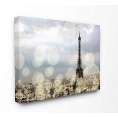 "36 in. x 48 in. ""Eiffel Tower Paris City Landscape Modern Photo"" by Emily Navas Canvas Wall Art"
