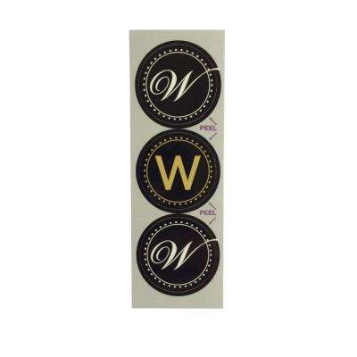 W Monogram Decorative Bathroom Sink Stopper Laminates (Set of 3)