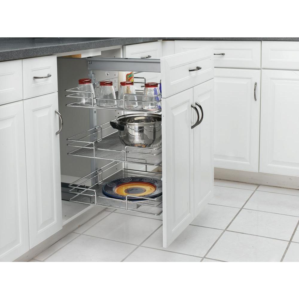 Rev-A-Shelf Premiere 16-3/4 in. Width Short Pull-Out Pantry