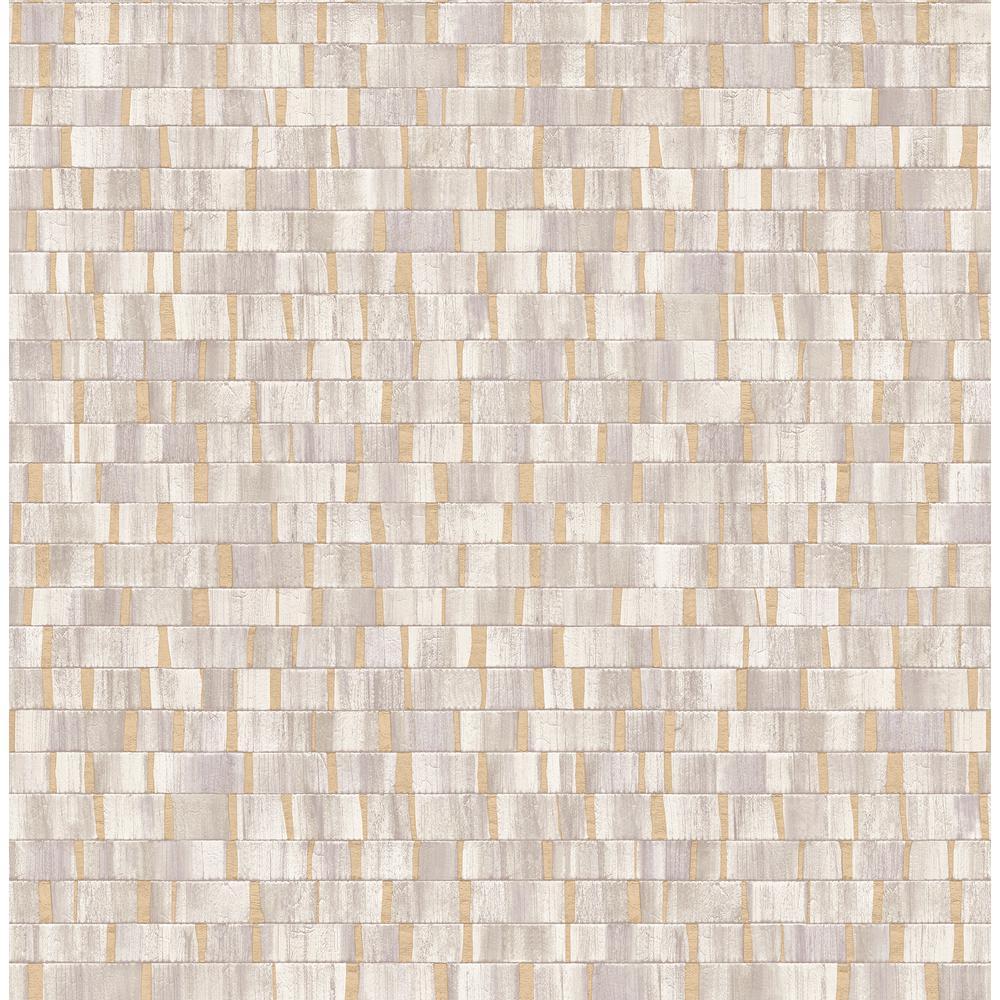 Constantine Neutral Faux Wood Wallpaper Sample