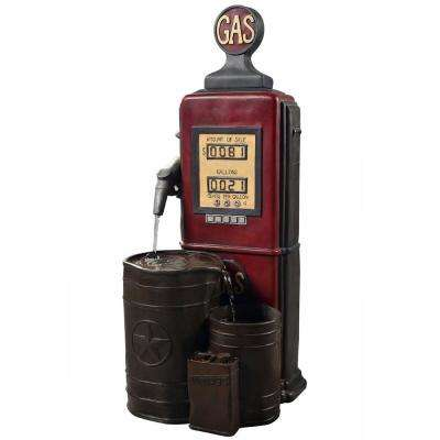Outdoor Vintage Gas Station Waterfall Fountain