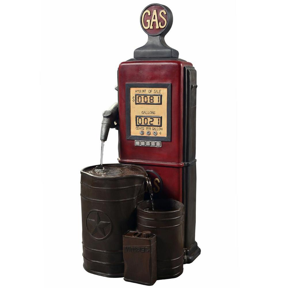 Peaktop Outdoor Vintage Gas Station Waterfall Fountain