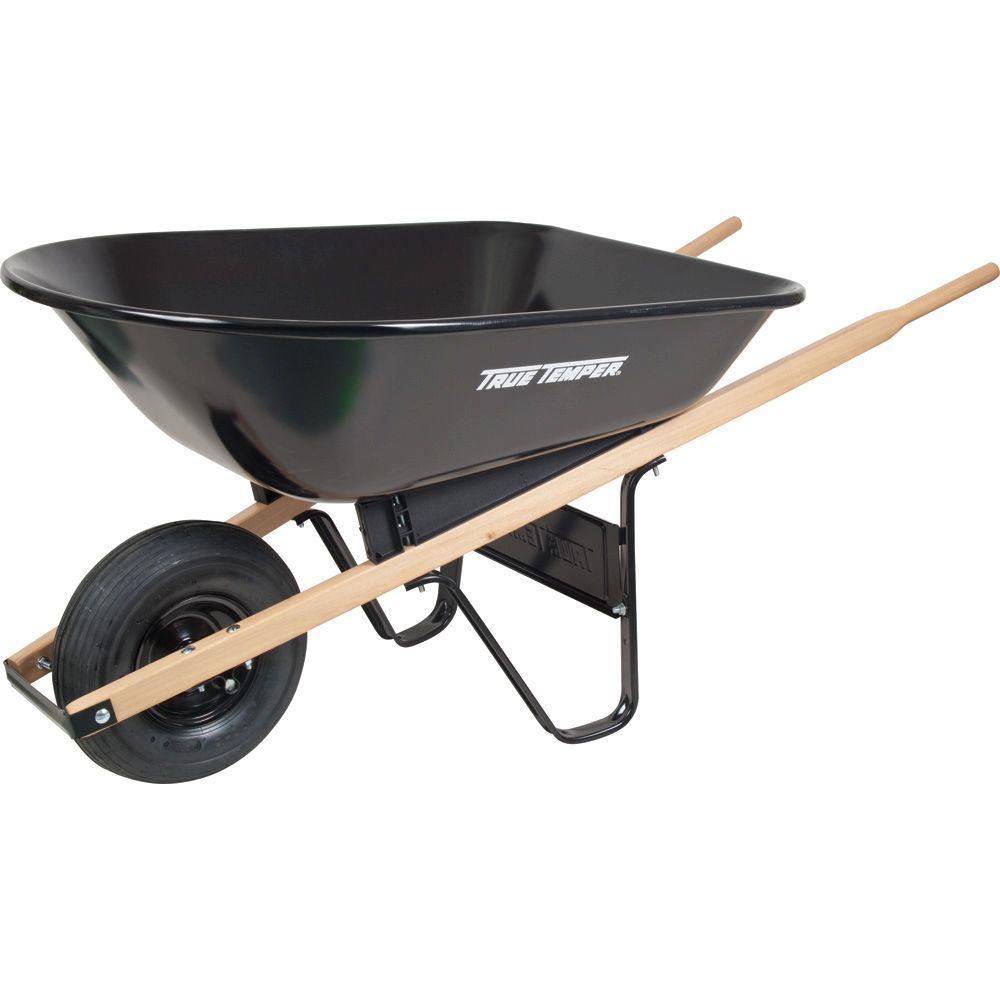 True Temper 5 cu. ft. Steel Wheelbarrow
