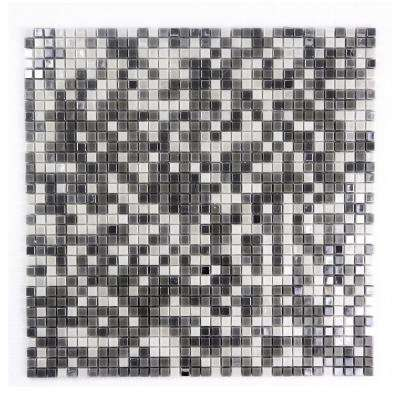 Constellation White Gray Mix 11.7 in. x 11.7 in. x 3.20 mm Glass Mosaic Tile