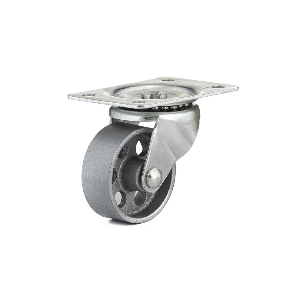 2-1/2 in. Metal Swivel Without Brake plate Caster, 176.4 lb. Load