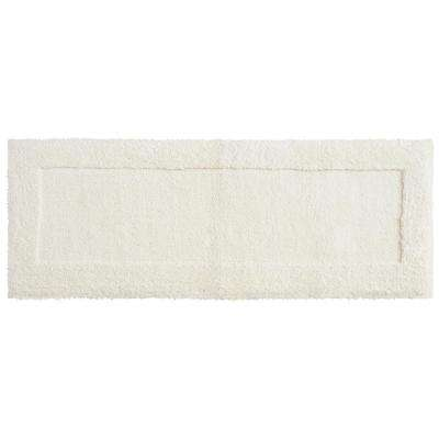 Dynasty 24 in. x 60 in. Micro Denier Polyester Runner Bath Rug in Parchement