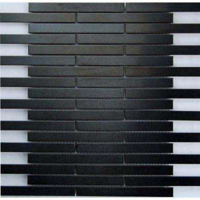 Dancez Electric Slide Brushed Metal 12 in. x 12 in.Mesh Mesh Mounted Tile (5 sq. ft. / case)