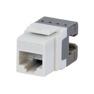 Category 6 Jack Network Cable, White (5-Pack)