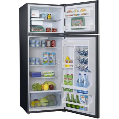 24 in. W 12 cu. ft. Frost Free Top Freezer Refrigerator in Stainless Steel with Ice Maker