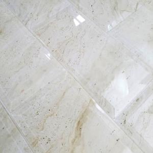 10 Abolos Subway 4-in x 8-in Crema Marfil Glass Peel & Stick Wall Tile