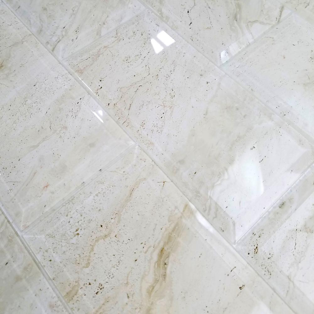 Abolos Nature Crema Marfil Beveled 4 In X 8 In Glass Wall Tile 10