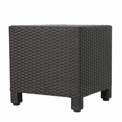 Maverick Dark Brown Square Wicker Outdoor Side Table
