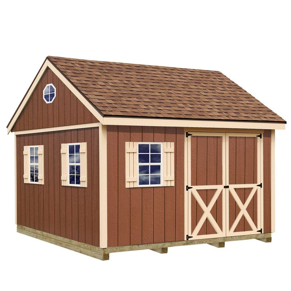 Mansfield 12 ft. x 12 ft. Wood Storage Shed Kit with