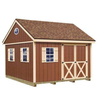 Mansfield 12 ft. x 12 ft. Wood Storage Shed Kit with Floor Including 4 x 4 Runners