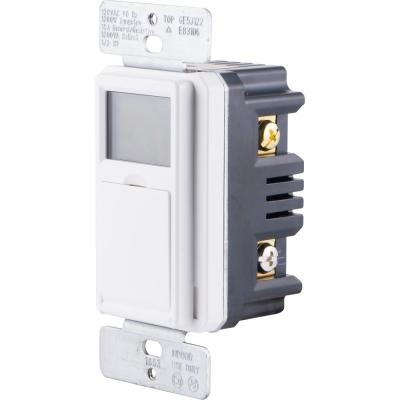 15 Amp In-Wall 3-Way Daylight Adjusting Digital Timer Switch with Screw Terminals, White