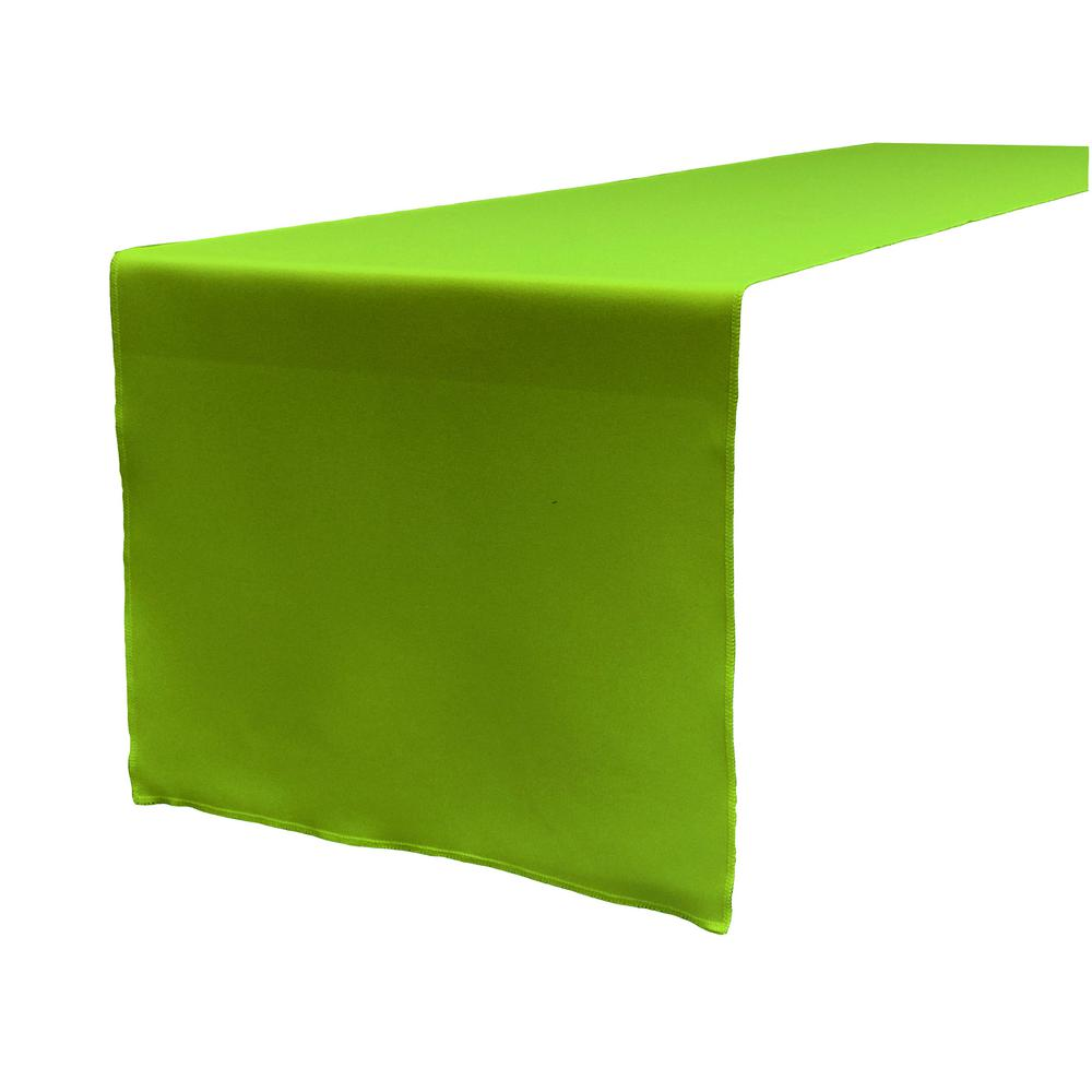 14 in. x 108 in. Lime Polyester Poplin Table Runner