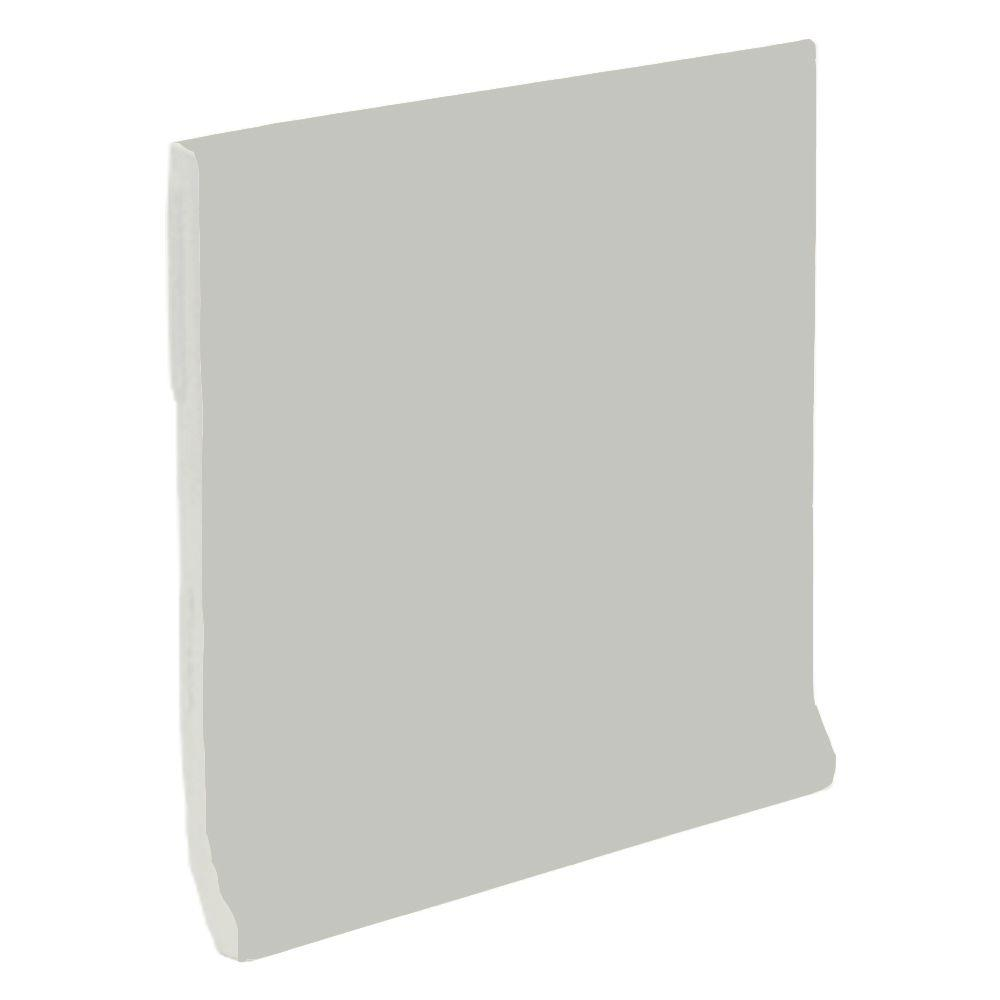 U.S. Ceramic Tile Color Collection Matte Taupe 4-1/4 in. x 4-1/4 in. Ceramic Stackable Cove Base Wall Tile-DISCONTINUED