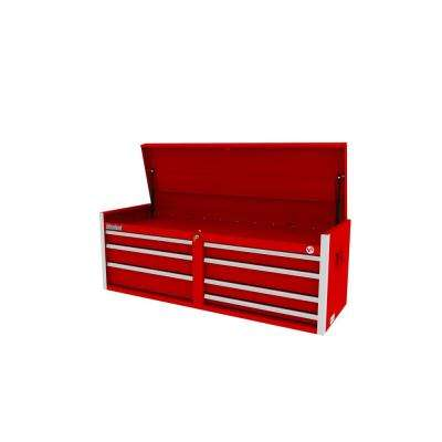 Tech Series 54 in. 7-Drawer Top Chest Red