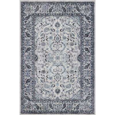 Daynes Traditional Distressed Cream 5 ft. 3 in. x 7 ft. 10 in. Area Rug