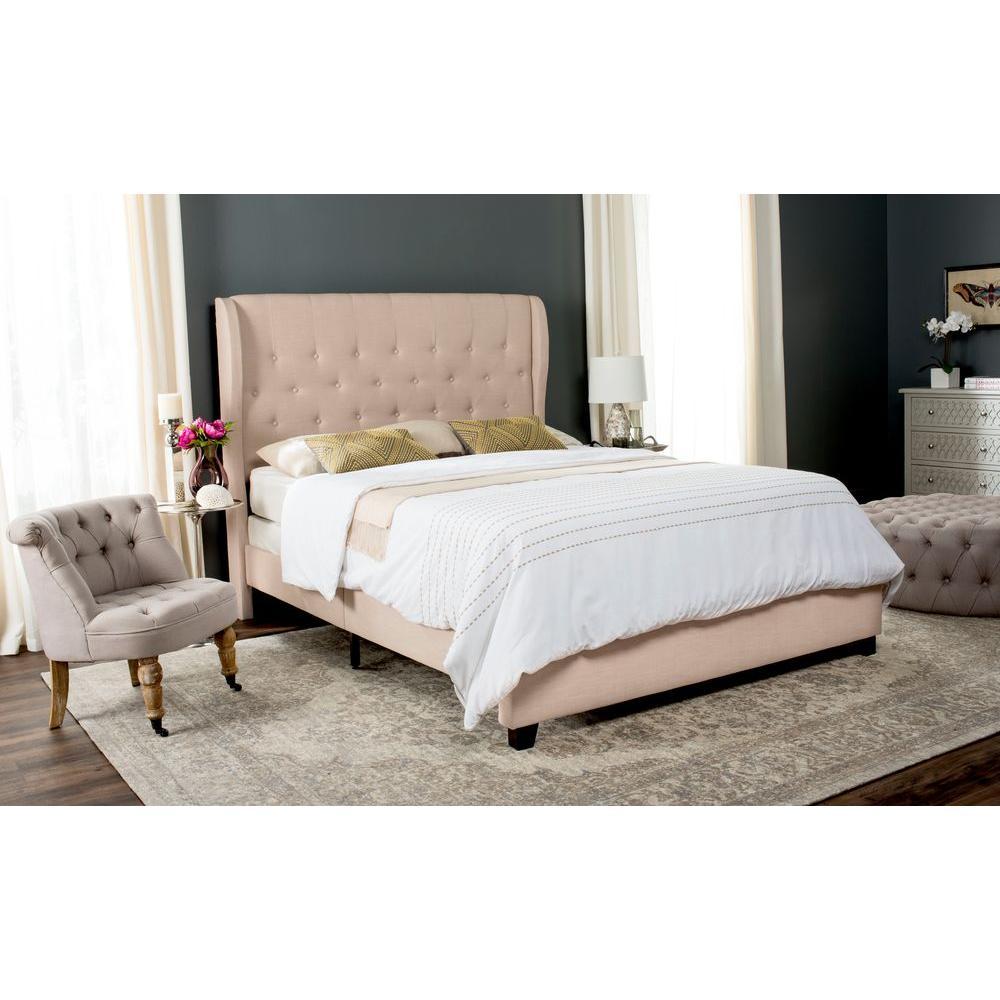 Blanchett Light Beige Full Upholstered Bed