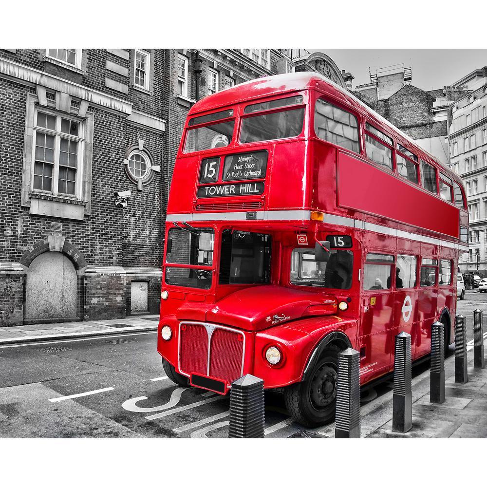 London Bus Wall Mural