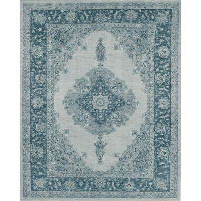 Washable Parisa Blue 8 ft. x 10 ft. Area Rug
