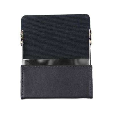Horizontal Framed Business Card Case Wallet in Genuine Leather