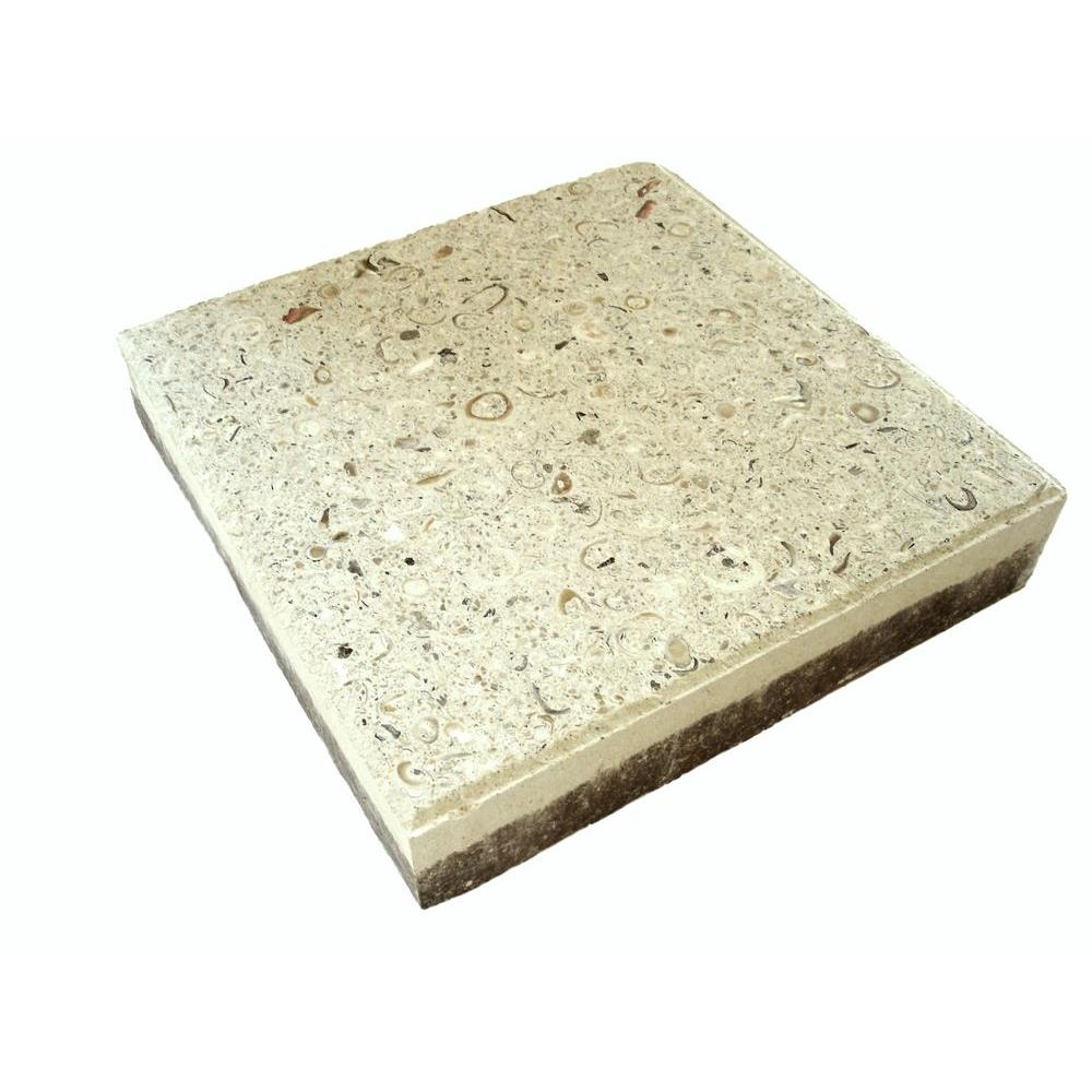Earth Surfaces of America 12 in. x 12 in. Paver Bone with Shells and Abalone (99 sq. ft. per pallet)
