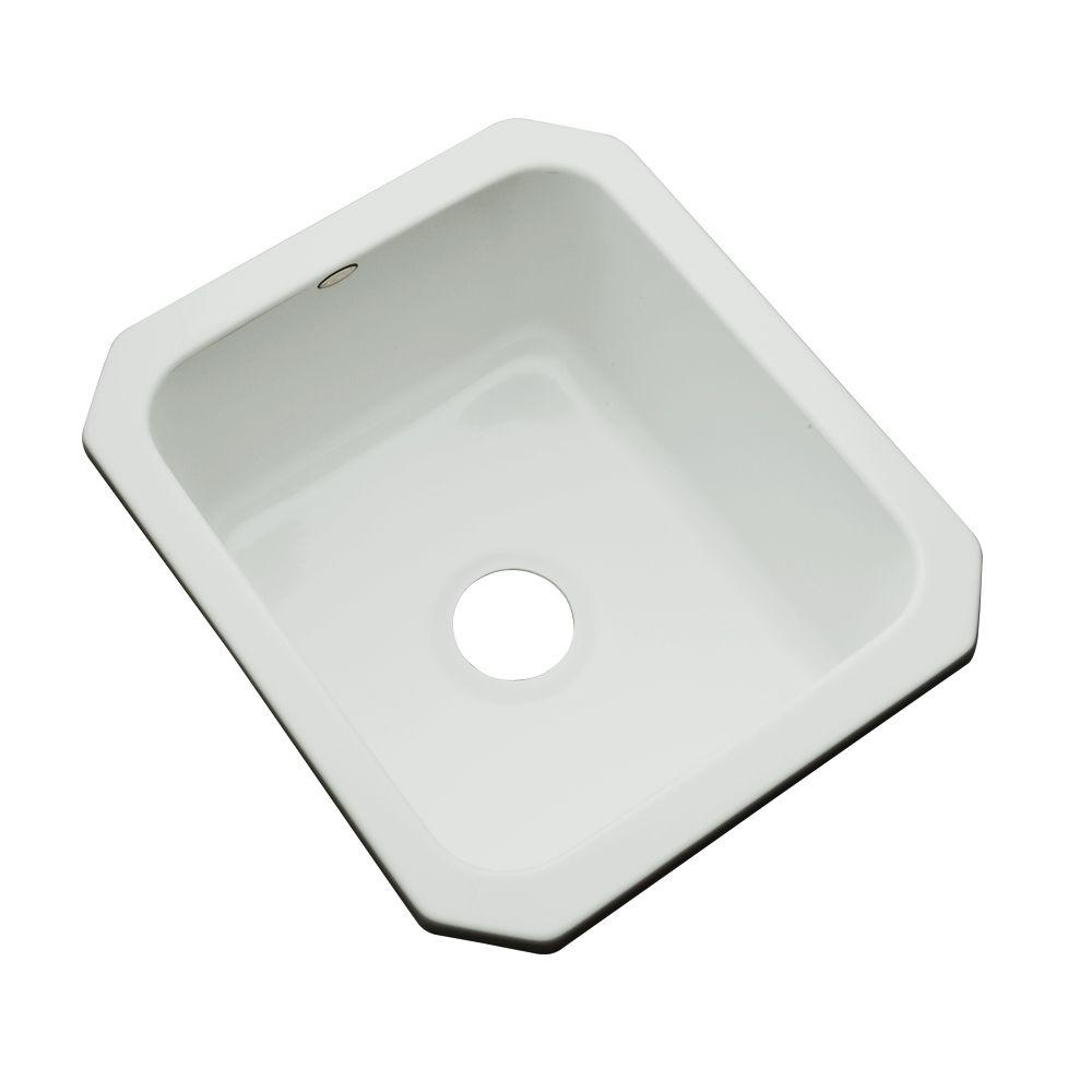 Crisfield Undermount Acrylic 17 in. Single Bowl Entertainment Sink in Sterling