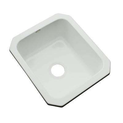 Crisfield Undermount Acrylic 17 in. Single Bowl Entertainment Sink in Sterling Silver