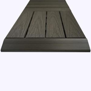 1/6 ft. x 1 ft. Quick Deck Composite Deck Tile Straight Fascia in Argentinian Silver Gray (4-Pieces/Box)