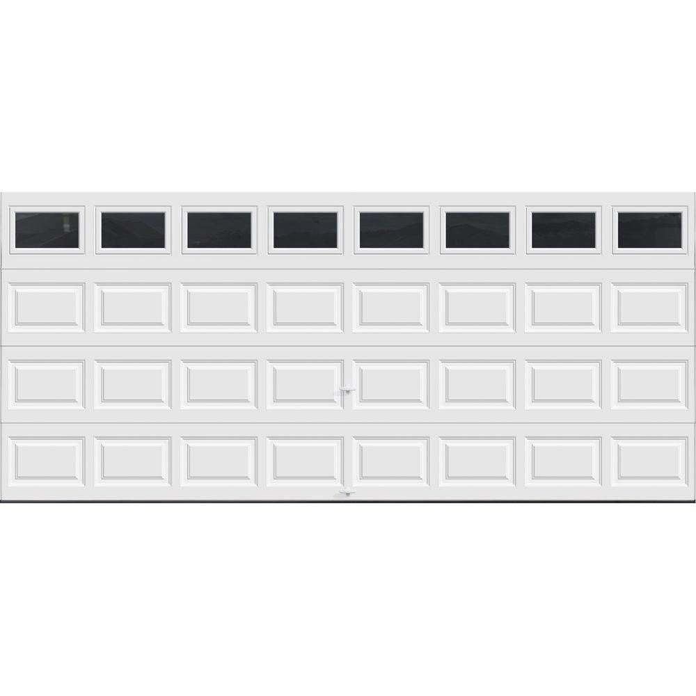 Clopay premium series 16 ft x 7 ft 12 9 r value for 16 x 21 garage door panels