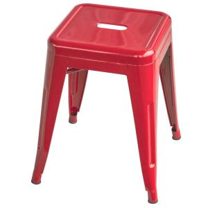 Tremendous Amerihome Loft Style 18 In Red Stackable Metal Bar Stool Cjindustries Chair Design For Home Cjindustriesco