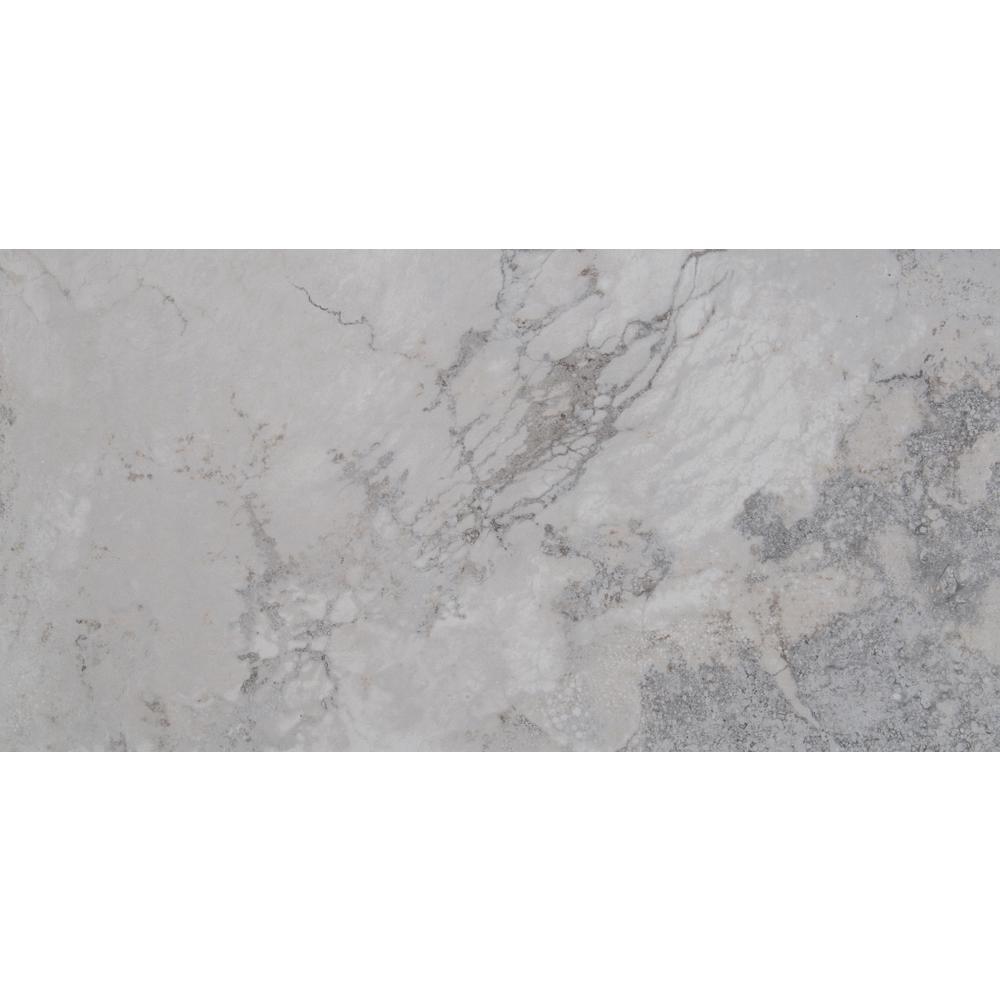 Napa Gray 12 in. x 24 in. Glazed Ceramic Floor and Wall Tile ( 16 sq. ft. / case)