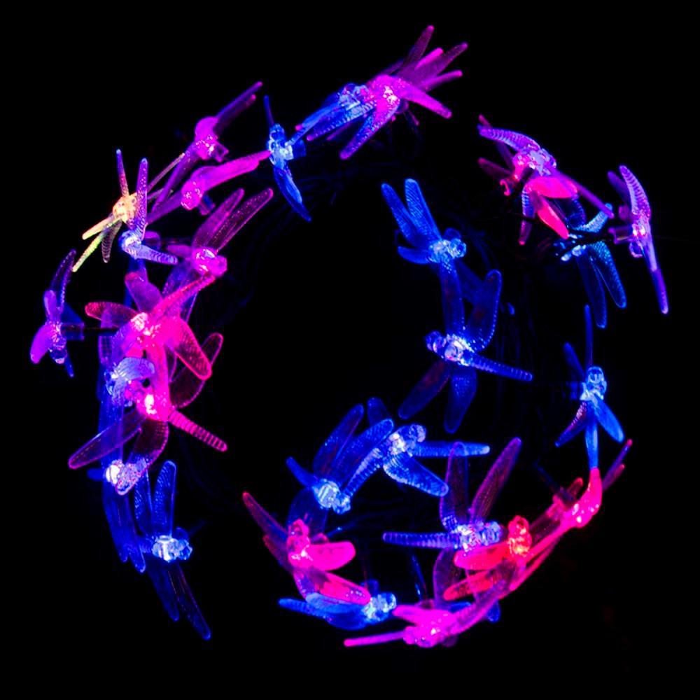 30 LED Multi-Color Dragonfly String Lights
