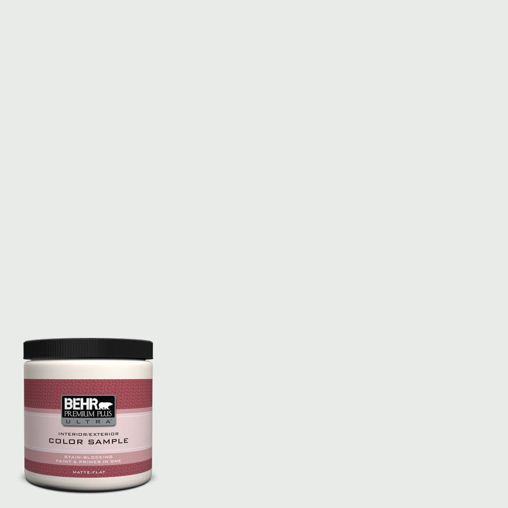 8 oz. #750E-1 Steam White Matte Interior/Exterior Paint and Primer in
