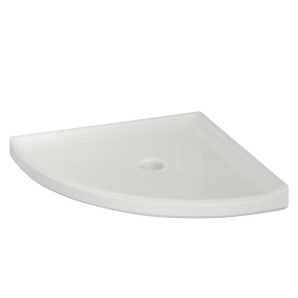 Restore 8 in. W Resin Wall Mounted Corner Shower Shelf Tile in White